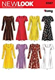 New Look Sewing Pattern 6567 Misses' Dresses, Size A (6-8-10-12-14-16)