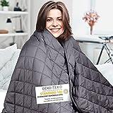 Wellax Gewichtsdecke – Therapiedecke – 7,2kg,152x203cm – Weighted Blanket...