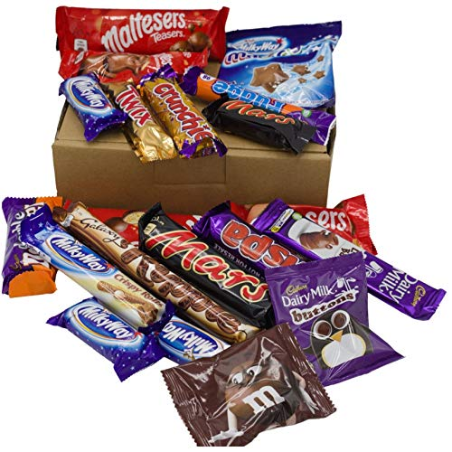Chocolate Gift Box - Chocolate Selection Including Cadbury, Galaxy, Maltesers, Mars and Milkway - Valentine Mother's Day Father's Day Gift Chocolate Hamper Gift Set