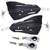 Meekear Motorcycle Universal Handguards, Aluminum Alloy Handlebar Guards - 7/8' 22mm and 1 1/8' 28mm for Motocross Dirt Bike Hand Guards Motorcycle Hand Guard Shield (Black)