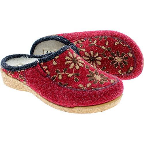Taos Footwear Women's Woolderness 2 Cranberry Clog 9-9.5 M US