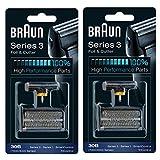 BRAUN 30B 7000 Series 4000 Series Mens Shaver Foil + Cutter Set Head...