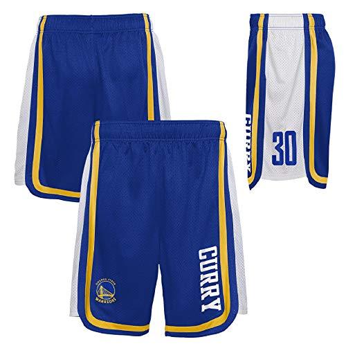 OuterStuff Pantalones cortos de baloncesto de la NBA Golden State Warriors Stephen Curry, Colores de equipo., xx-large
