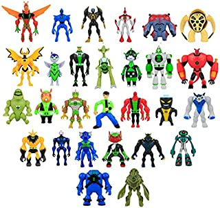 28Pcs/Set Cartoon Ben 10 Toys Ben Tennyson with Light PVC Ben10 Alien Action Figure Collectible Model Toys 10-14CM Wholesale