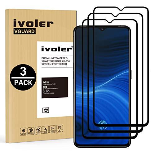 ivoler 3 Stücke Panzerglas Schutzfolie für Oppo Realme X2 Pro, [Volle Bedeckung] Panzerglasfolie Folie Hartglas Gehärtetem Glas BildschirmPanzerglas für Oppo Realme X2 Pro