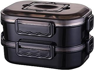 FEIGAO 2 Couches,Bento Box,Grande Capacité 1200ml,304 Acier Inoxydable+PP Lunch Box,Rangement Et Organisation De Cuisine(2...
