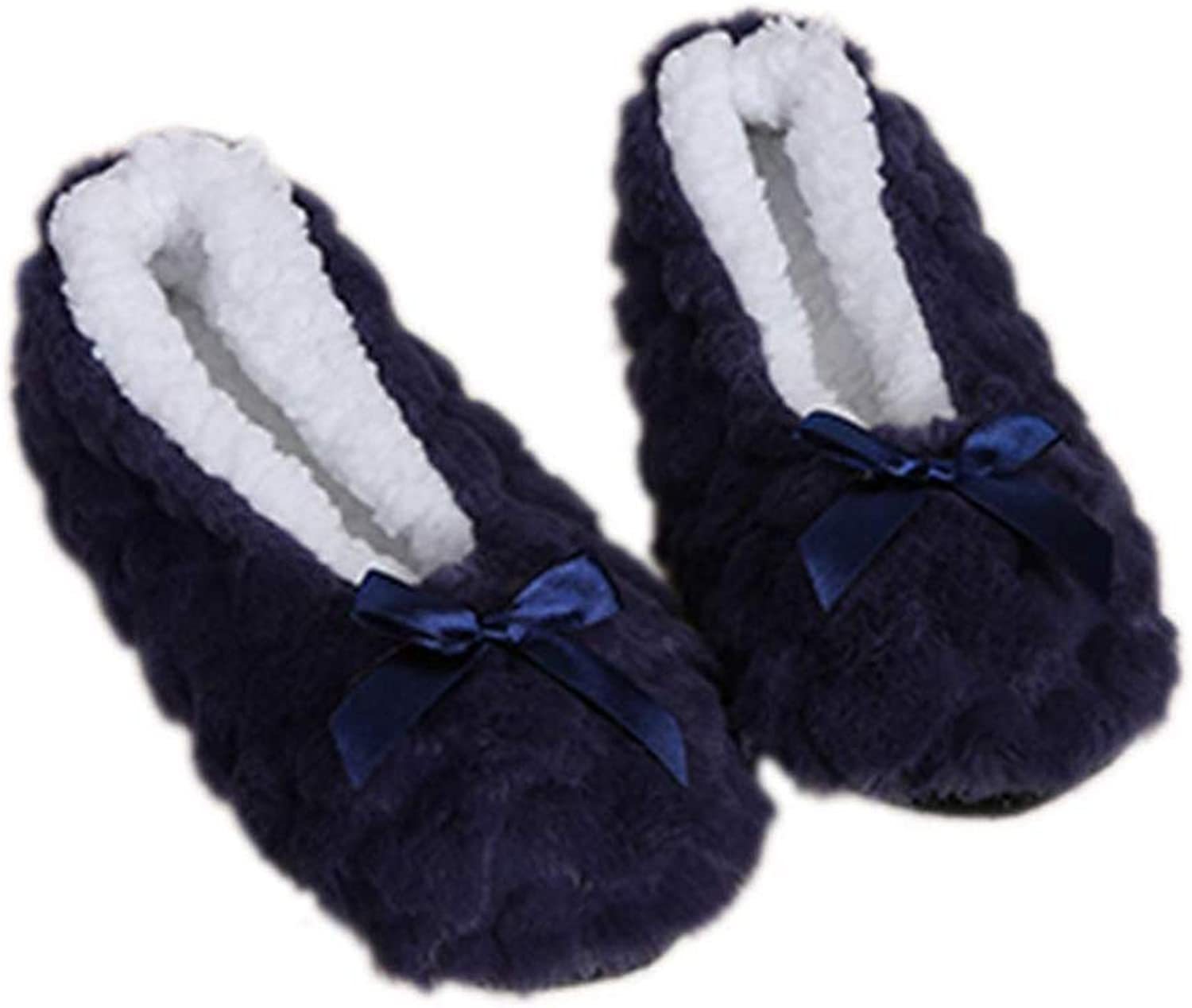 York Zhu Women Winter Warm Home Slippers Soft Sole Plush Cotton-Padded House Slippers