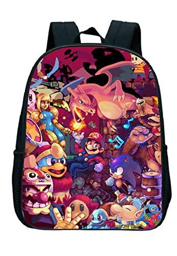 ZFFSC Kinder Niñas Niños Regalos Super Mario Mochila Set Juego Super Mario Smash Bros niños Bolsa Linda de los niños S