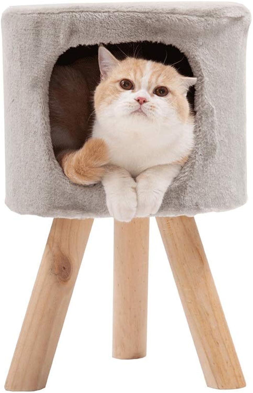 Honey Pot Cat, Cat Room, Four Seasons Universal Cat House, Cat House, Cat Room, Small Stool, Solid Wood Leg Cat House