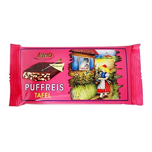 3er Pack Argenta Puffreistafel Knusperrette 3 x 60 g) mit Puffreis und Zartbitterschokolade umhüllt