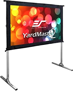 Elite Screens Yard Master 2, 55 inch Outdoor Projector Screen with Stand 16:9, 8K 4K Ultra HD 3D Portable Fast Folding Mov...