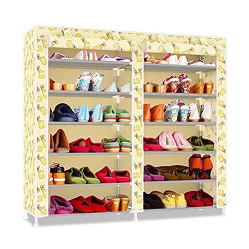 Wlbhb Doble Fila Multi-Capa de Gabinete de Zapatos de Tela Oxford (Color : HH342500CS5)