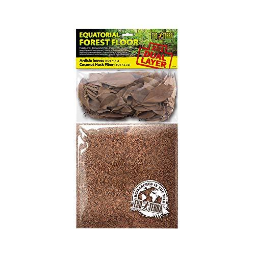 Exo Terra Equatorial Forest Floor, Äquatorialwald Substrat, Ardisie Blätter und gemahlene Fasern der Kokosnussschale, 100{a2289d4d77dd27a92d11437c6536340a376831b4b0a487b02917d0ff73eb71b7} natürliches Substrat, 4,4L