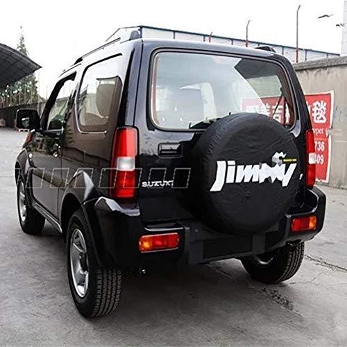 wowowa PVC Leder platzsparende Reserveradschutzabdeckung Autozubehör für 2012 2013 2014 Suzuki jimny 14# Reifen