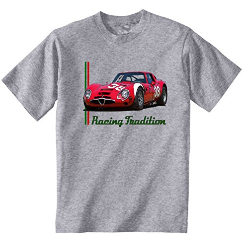 TEESANDENGINES Alfa Romeo Giulia TZ 2 1965 Camiseta Gris para Hombre de...