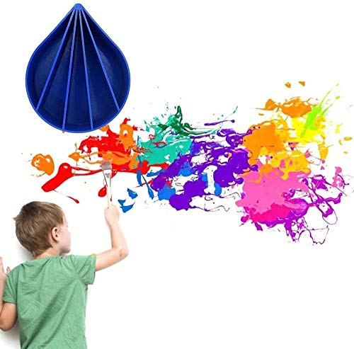 WESD Acryl-Gießbecher, 5 Kanäle, Farbgießbecher, 340 ml, leicht und einfach zu bedienen, flüssiges Kunstgieß-Zubehör, Zeichen-Geschenk