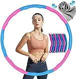 Aro de Entrenamiento para Pérdida de Peso,Aro de Fitness para Adultos,Hula Fitness Hoop, aro Hoola Desmontable de 6 a 8 segmentos con Cinta métrica para Adultos y niños (3)