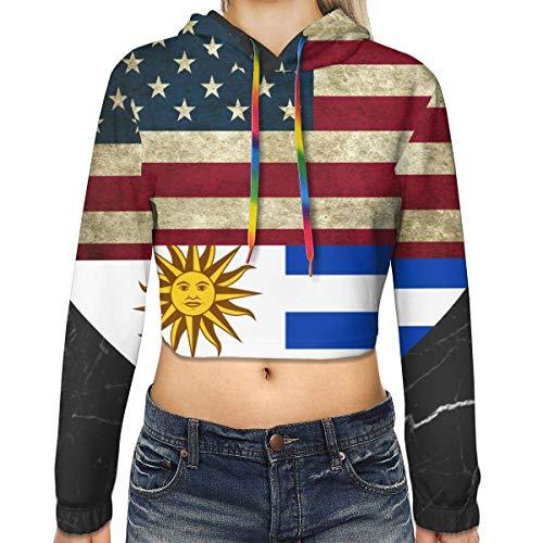 IUBBKI Retro Bandera uruguaya Americana Corazón Mujer Sudad