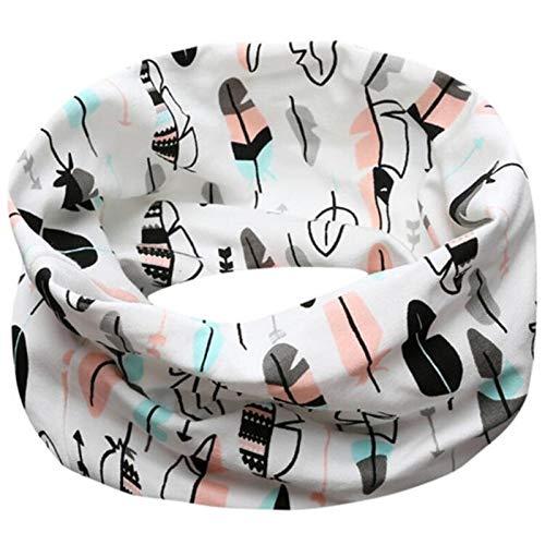 Halsketting voor de herfst, met veren, voor baby's, meisjes, voor de winter, sjaal en muts