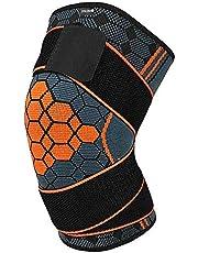 COLOMAX Vendaje de alta calidad con velcro para rodilla, para deporte, fitness