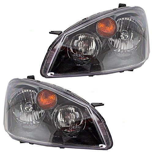 Halogen Headlights Headlamps Driver and Passenger Replacement for Nissan 26060ZB525 26010ZB525