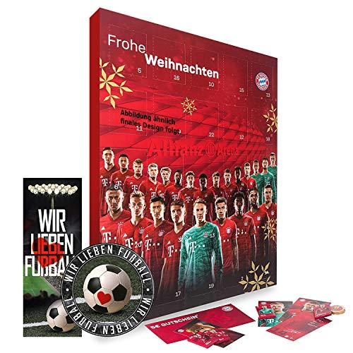 FC Bayern München Adventskalender, Weihnachtskalender - Plus gratis Sticker & Lesezeichen Wir Lieben Fußball Comic XXL