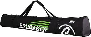 BRUBAKER Ski Bag Carver Champion for 1 Pair of Ski and Poles, Padded, Resistant