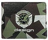 Cartera X-Zone Military Design Nylon Negro Militar