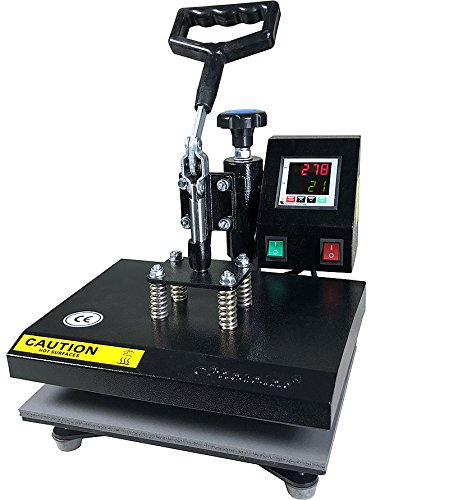 ePhotoInc New Digital 9' x 12' Swing Away Digital Heat Press Machine Transfer Sublimation T-Shirt Press EPH10BU