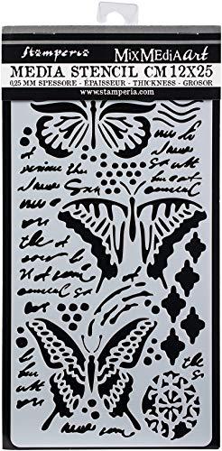 Stamperia Intl KSTDL09 Stamperia sjabloon, vlinders, 12 x 24 cm