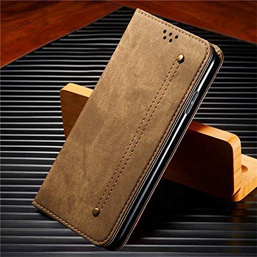 QiuKui Fundas para Xiaomi A3 9T Note 10 Lite, Funda de cuero magnético con ranuras para tarjetas, soporte para Redmi Note 7 8T 9S K20 K30 Pro Max (color: café, material: para Redmi Note 8T)