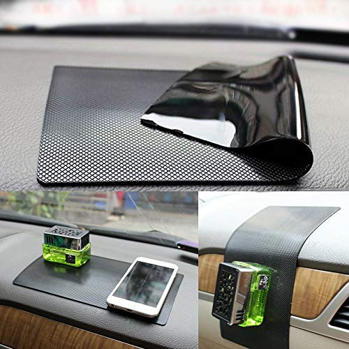 "New Anti-Slip Non-Slip Mat Car Dashboard Super Sticky Pad Anti-Slip Gel Pad, Cell Phone Mount Holder Mat by ZhuTook for GPS, Sunglasses, Keys and More (Car Square Pattern, 11""X6.7"")"