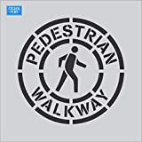 18' Circular Pedestrian Walkway Crossing Symbol Bike Lane/Ped Crossing Stencil