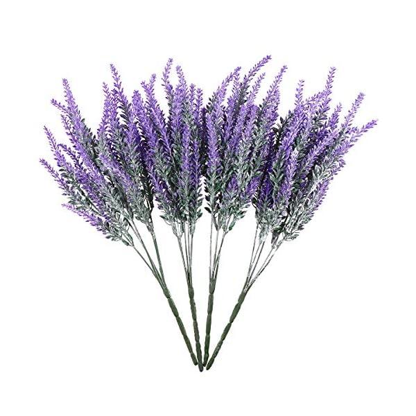 OUNONA – Ramo de lavanda artificial flocado en flores moradas, decoración de boda, decoración de casa, para decoración…