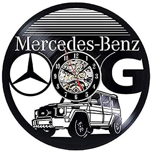 Reloj de pared de vinilo único para coche, decoración artística, hecho a mano, regalo ideal para cumpleaños, hombres, amigos, amantes de los coches