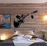 Adhesivo para pared de dormitorio con cuerdas de guitarra grande