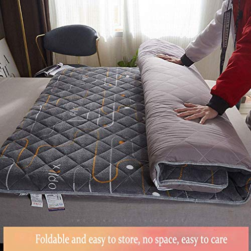 GONGFF Soft Foam Mattress,Coral Velvet Thick Tatami Bed Mattress,Student Single Double Dormitory Sleeping Mat,Home Bedroom Bed With Tatami Mattress,Soft And Non-irritating,Support Naked Sleep