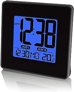 Extra Large Temps Affichage Numérique Température Calendrier Alarme Compteur De Temps