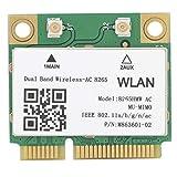 Hyuduo1 Tarjeta de Red inalámbrica, Tarjeta de Red Mini PCI-E WiFi de 2,4 G / 5 GHz, Dispositivo de Red 802.11ac 867 Mbps Bluetooth 4.2 8265HMW