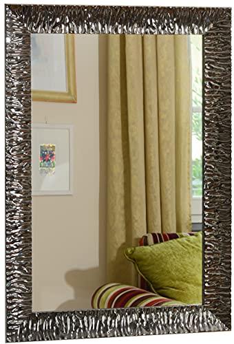 GaviaStore - Julie Gris Plomo 70x50 cm - Espejo de Pared Moderno...