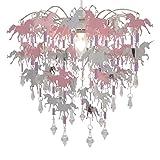Abat-Jour Licorne pour Enfants Chambre Fille Rose Violet et Argent Lumière Ombre...