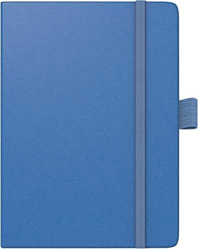 BRUNNEN 107326632 Taschenkalender Modell 732 Kompagnon (2 Seiten = 1 Woche, 10 x 14 cm, Baladek-Einband, Kalendarium für 18 Monate (Juli 2019 bis Dezember 2020)) blau