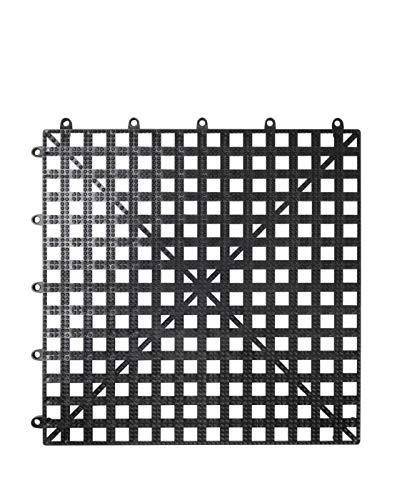 Tappetino sottobicchiere, tappetini sottobicchieri, bar,ristoranti,Pub e altri locali, componibile 30,5 x 30,5 cm nero. Confezione da 1 pezzo. Cod. B-572