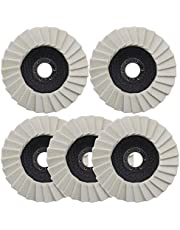5 unids lana fieltro rueda de pulido 5 pulgadas/125 mm arandela dentada aleta disco de fieltro para acero inoxidable vidrio metales aluminio amoladora angular rueda pulidora