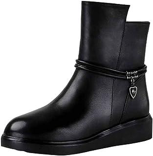caliente mujer Ladies Martin botas Invierno Invierno Invierno Cálido Cómodo Antideslizante Piel De Cuero Forrado botas Para La Nieve Trabajo Utilidad Calzado Montar botas De Motorista  Entrega directa y rápida de fábrica