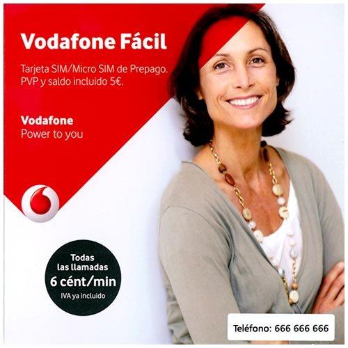 Vodafone - Tarjeta prepago facil 5 euros