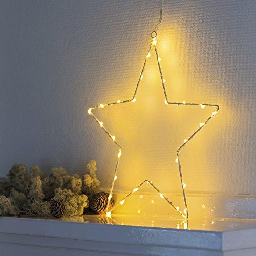 Sirius LED Leuchtstern Liva Star 30 cm Metall weiß