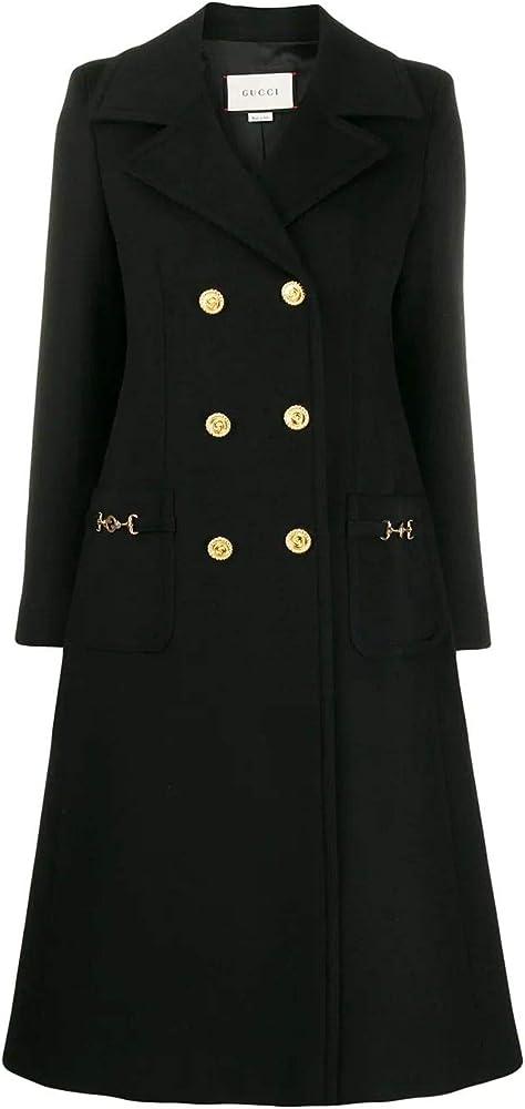 Gucci cappotto nero lana da donna luxury fashion 592185ZHW031000