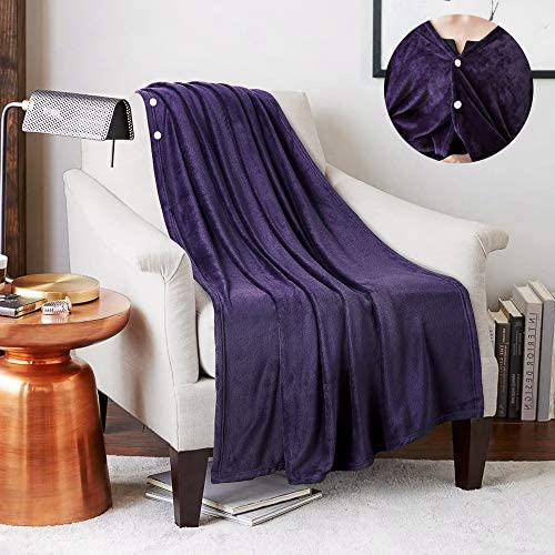 JS HOME Twin Size Wearable Fleece Blanket Throw Super Soft and Cozy Blanket for All Season Luxury product image