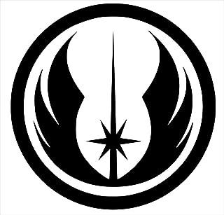 UR Impressions LLC Blk Jedi Order Logo Star Wars Inspired Decal Vinyl Sticker|Cars Trucks Walls Laptop|BLACK|5.5 In|URI289